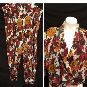 Other - 2 piece floral pant set